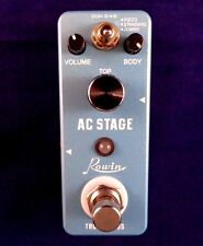 Rowin LET-320 AC STAGE ACOUSTIC GUITAR SIMULATOR Effect Pedal with True By-Pass
