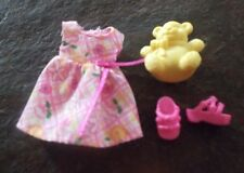 BARBIE DOLL CLOTHES - KELLY PINK PRINT DRESS w/ SHOES