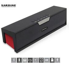 Sardine Sdy-019 Speaker Wireless Bluetooth Sound Box TF USB FM Radio Alarm New
