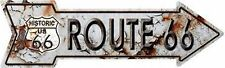 "Rustic Look Route 66 Novelty Metal Arrow Sign 17"" x 5"" Wall Decor"