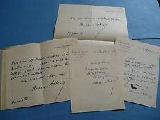 HENRI-ROBERT 4 x Autographe Signé 1916-27 AVOCAT ACADEMIE à J. CATULLE-MENDES