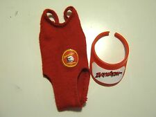 Vtg Barbie Doll Baywatch Red Bathing Suit Sun Visor Red Swimsuit Ages 7 to 70