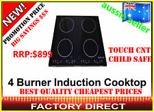 NEW 4 BURNER CERAMIC GLASS INDUCTION ELECTRIC COOKTOP TOUCH CONTROL RRP$899