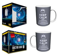 Doctor Who Keep Calm and Exterminate 11 oz. Ceramic Coffee Mug, NEW UNUSED