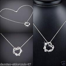 Herz im Herz Swarovski Element Kristall Kette + Geschenk Etui Original Design 43