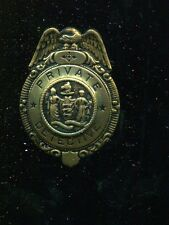 Vintage OLD Unmarked PRIVATE DETECTIVE INVESTIGATOR Shield with Eagle Badge