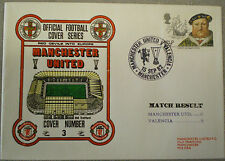 Football Postal Cover MANCHESTER UNITED v VALENCIA Red Devils in Europe 15 9 82