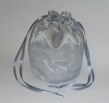 Satin & Lace Dolly Evening Handbag / Purse Wedding Bridesmaid Silver Gold White