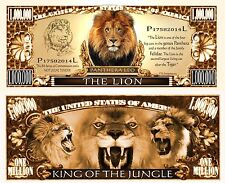 USA 1 Million Dollar banknote LION (King of the Jungle) NEW - UNCIRCULATED CRISP