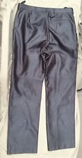 PRADA Mens Brown Leather Biker Runway Trousers Jeans Dress Pants 50 34 Archive