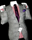 BNWT MENS HACKETT MAYFAIR LONDON BESPOKE PRINCE OF WALES CHECKED SUIT 42R W36