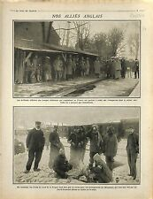 Officers India Soldiers British Army Bataille de Flandre/Hangars Paray 1914 WWI