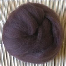 100g Merino Wool Tops 64's Dyed Fibres - Chestnut - Felt Making and Spinning