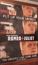 """40x60"""" HUGE MOVIE SUBWAY POSTER~Romeo and Juliet 1996 """"Put Up Your Swords"""" Rare~"""