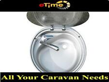 Dometic CRAMER round sink with hot/cold mixer tap caravan motorhome