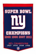 "New York Giants Embroidered Wool Dynasty 24"" x 36"" Banner Pennant"