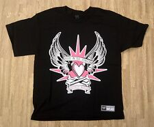 Natalya Queen of Harts WWE Authentic Shirt ~ Youth Medium Large ~ SS Black