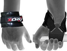 Auth RDX Gewichtheben Griff Training Gym Strap Handschuhe Handgelenkschutz Bar D