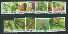 SINGAPORE SG491/502 1985 INSECTS  FINE USED