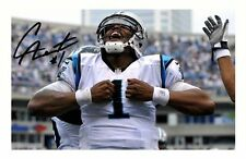 CAM NEWTON - CAROLINA PANTHERA AUTOGRAPHED SIGNED A4 PP POSTER PHOTO