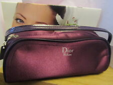 100% Genuine CDior PURE POISON Make up Bag/Clutch Bag in Plum Limited Edition