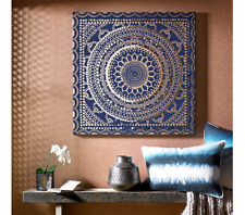 Moroccan Fabric Canvas Print Picture - Hanging Wall Art, Modern Home Decor Panel