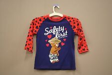 SAFETY FIRST PREVENT WILDFIRES BLUE RED T-SHIRT..MARVEL..FOR KIDS..SIZE: M..A.D