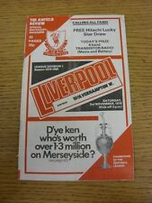 03/11/1979 Liverpool v Wolverhampton Wanderers  (Folded)