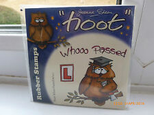 New - Cling Stamp- Joanna Sheen - Owl - Hoot - 3 Stamps