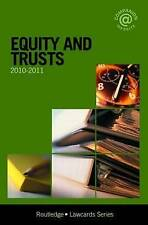 Equity and Trusts Lawcards 2010-2011, Routledge Paperback Book -Cheapest on ebay