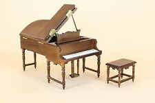 Dollhouse Miniature GRAND PIANO W/STOOL 1472-NWN set2   DIRECT FROM BESPAQ