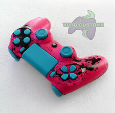 Custom Modified Playstation 4 Dualshock Wireless PS4 Controller - Pink Spatter