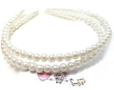 Women Girl Fashion Pearl Beads Hair Hoop Headband Hair Accessories Wedding Party