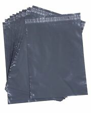 100 Grey Mailing Sacks 230mm x 300mm Plastic / Poly A4 Postal Bags 9x12