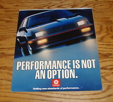 Original 1987 Dodge Performance Sales Brochure 87 Daytona Shelby Z Ram
