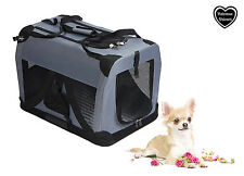 Valentina Valentti Cat Dog Puppy Pet Carrier Transport Soft Crate S size, Grey