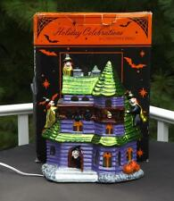 Christopher Radko Halloween Lighted Witch Manor Haunted House EXC