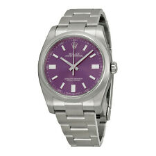 Rolex Oyster Perpetual Purple Dial Stainless Steel Mens Watch 116000PUSO