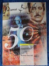 (3) Folder Poste Italiane 50° Edizione del Festival Puccini -