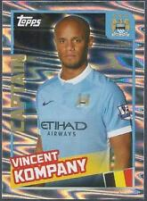 TOPPS 2016 PREMIER LEAGUE #198-MANCHESTER CITY-CAPTAIN-VINCENT KOMPANY-FOIL