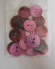 GLOSSY SHELL BUTTONS -  15mm ** NEW** Gorgeous Cols!  PINK