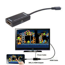 Micro USB MHL to HDMI HDTV CABLE ADAPTER 1080P For HTC One M8 Sony Xperia Z1 Z2