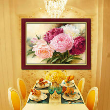 DIY 5D Diamond Embroidery Painting Peony Flower Cross Stitch  Crafts Home Decor