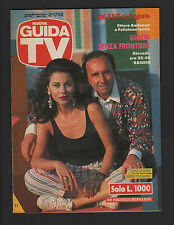 GUIDA TV MONDADORI 30/1991 ETTORE ANDENNA E FELICIANA IACCIO PROGRAMMI MEDIASET