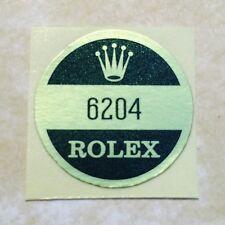 ROLEX VINTAGE Caseback Certificate Sticker 6204 Submariner