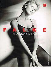 PUBLICITE ADVERTISING 025  1997  FALKE   sous vetements body