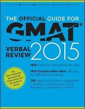 The Official Guide for GMAT Verbal Review 2015 + Access Code