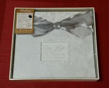 C.R. Gibson Deluxe Photo Book Our 25th Wedding Anniversary Photo Album Silver