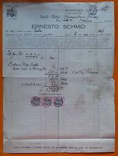 Milano 1929: Fattura su carta intestata - Ernesto Schmid - merceria