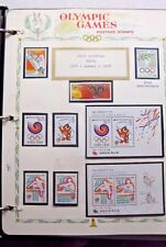 Seoul Korea 1988 Olympic Stamps; Large 50 pg Album .  Review Details & Pictures